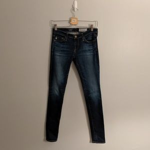 AG Adriano Goldschmied Dark Wash Legging Jeans